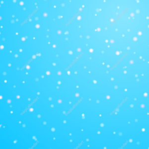 Snowfall winter christmas background with blue sky, colorful falling snow and snowflakes. Design element for Merry Christmas